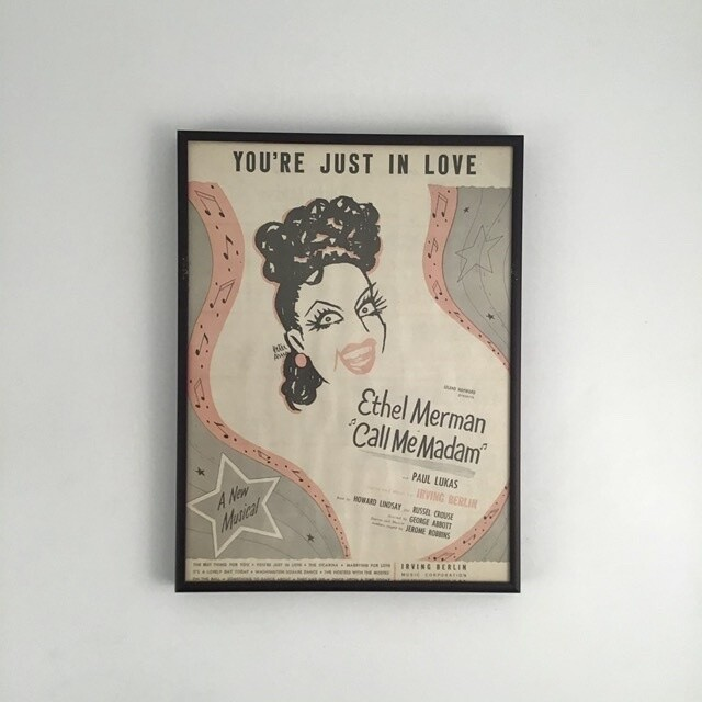 """You're Just in Love"" Framed Song Sheet Cover"