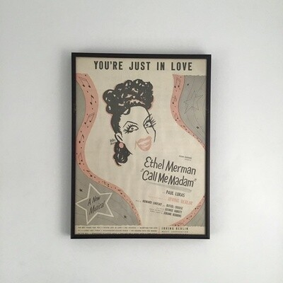 """""""You're Just in Love"""" Framed Song Sheet Cover"""