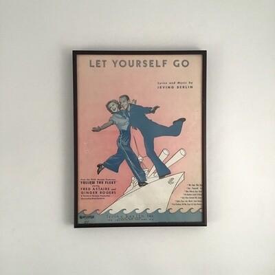 """Let Yourself Go"" Framed Song Sheet Cover"