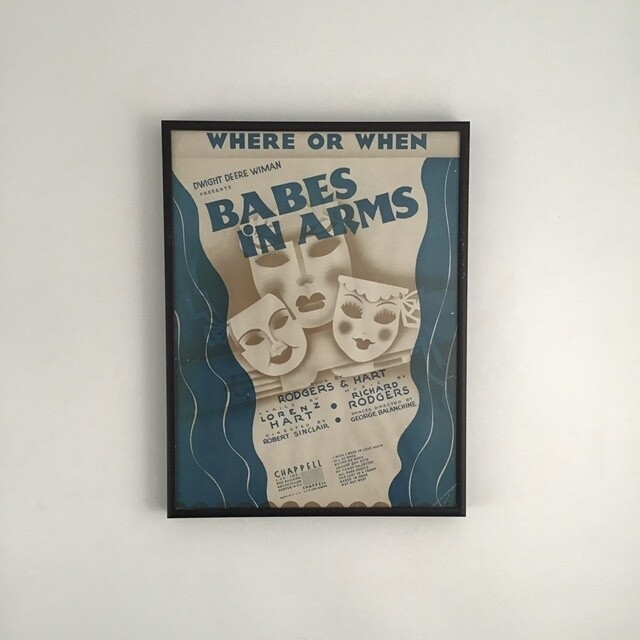 """Where or When"" Framed Song Sheet Cover"