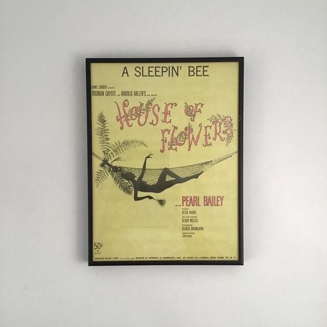 """A Sleepin' Bee"" Framed Song Sheet Cover"