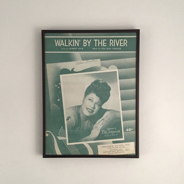 """""""Walkin' by the River"""" Framed Song Sheet Cover"""