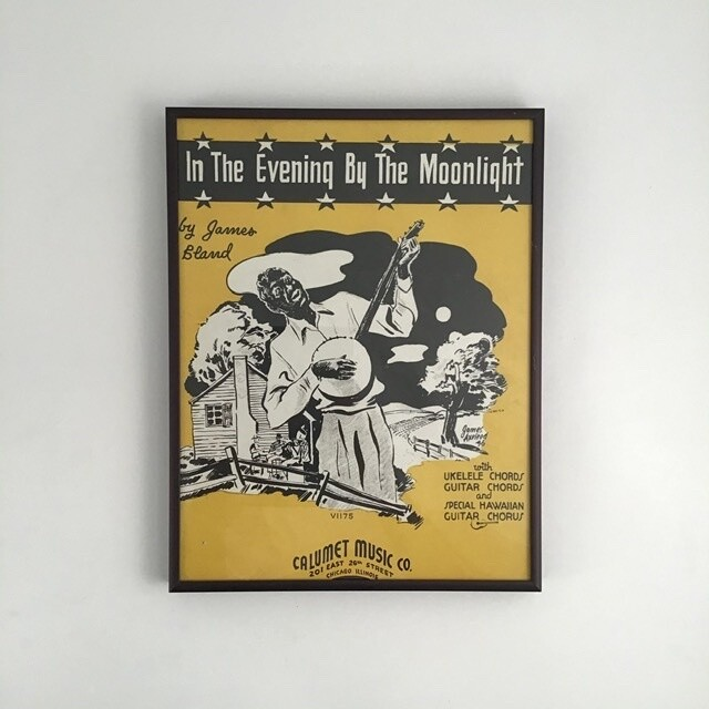 """In The Evening By The Moonlight"" Song Sheet Cover"