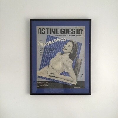 """""""As Time Goes By"""" Framed Song Sheet Cover"""