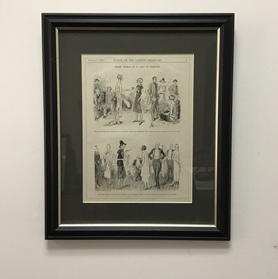 """Framed Page """"From Punch Or The London Charivari"""" January 7, 1925"""
