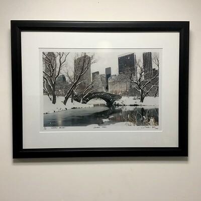 "Framed Photograph ""Gapstow Bridge"" Signed Edition"