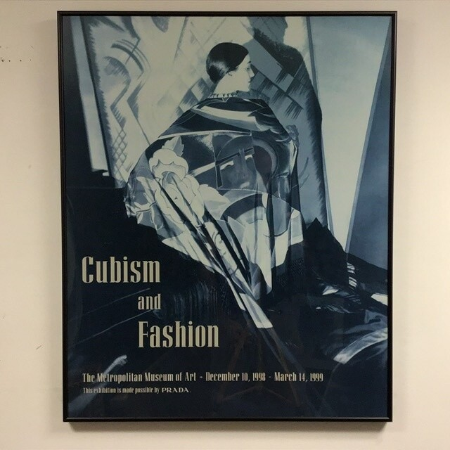 Cubism and Fashion Exhibition Poster Framed