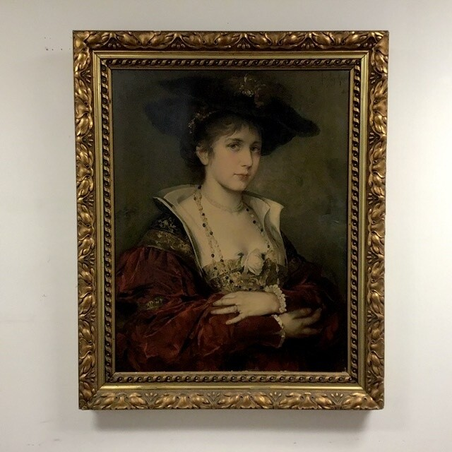 Portrait of Young Woman Framed