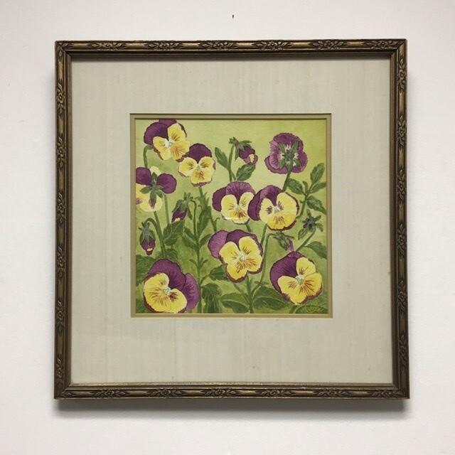 Zetta Jones Framed Watercolor
