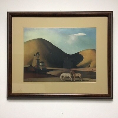Western Landscape Reproduction Framed