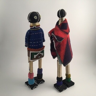 Pair Of Two Hand Made Dolls