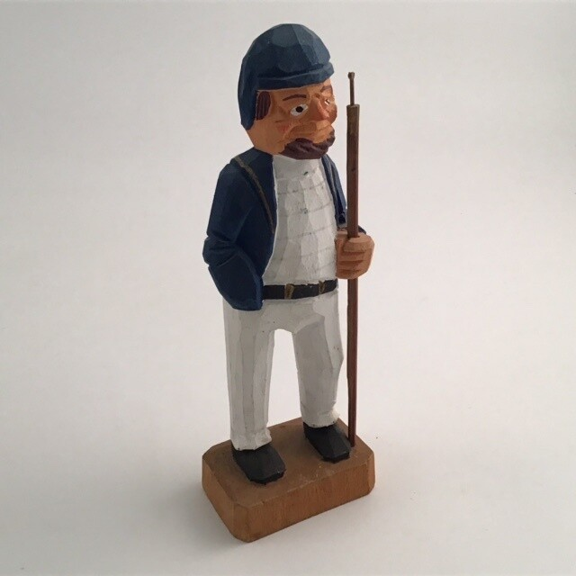 Hand Carved Wooden Maine Fisherman