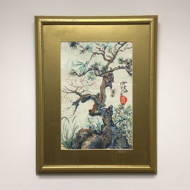 Framed Tree Painting