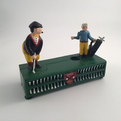 Golfer Mechanical Bank