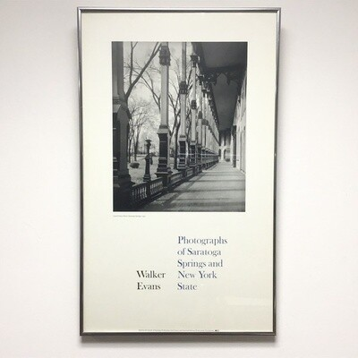 Framed Walker Evans Poster