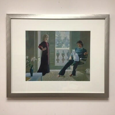 Framed David Hockney Reproduction