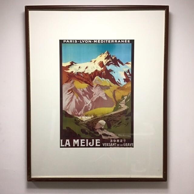 Framed La Meije Poster
