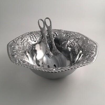 Lenox 3pc Metal Salad Set