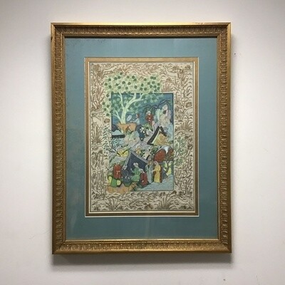 Framed Persian Miniature Lithograph