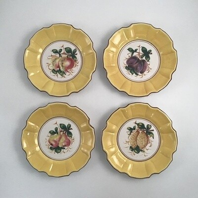 Set Of Four Hand Glazed Plates