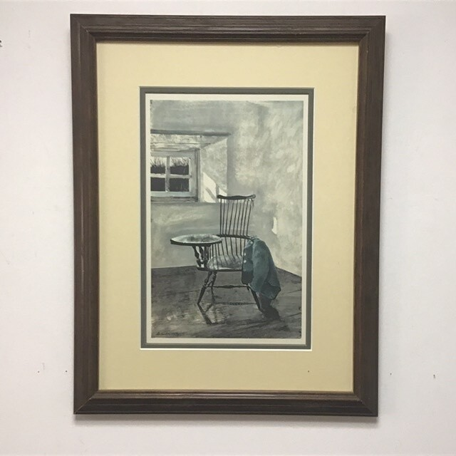 Framed Reproduction Of Early October By Andrew Wyeth