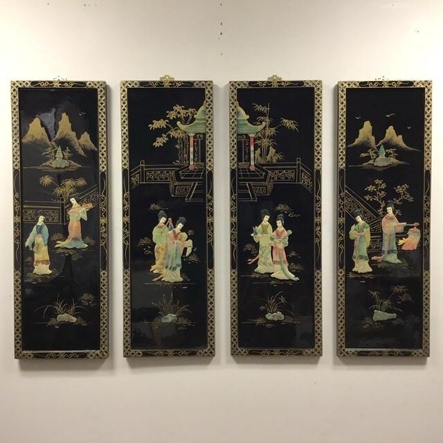 Four Panel Asian Wall Art