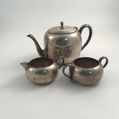 Keystonwear Silverplate 3pc Tea Set
