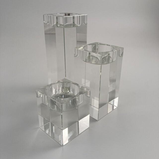 Le Sens Crystal Tealight Holders Set Of 3