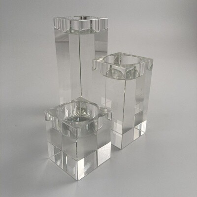 Le Sens Crystal Tealight Holders Set Of 3