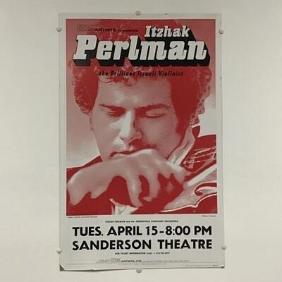 Itzhak Perlman Vintage Concert Poster