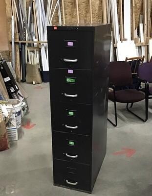Art Metal 5 Drawer File Cabinet