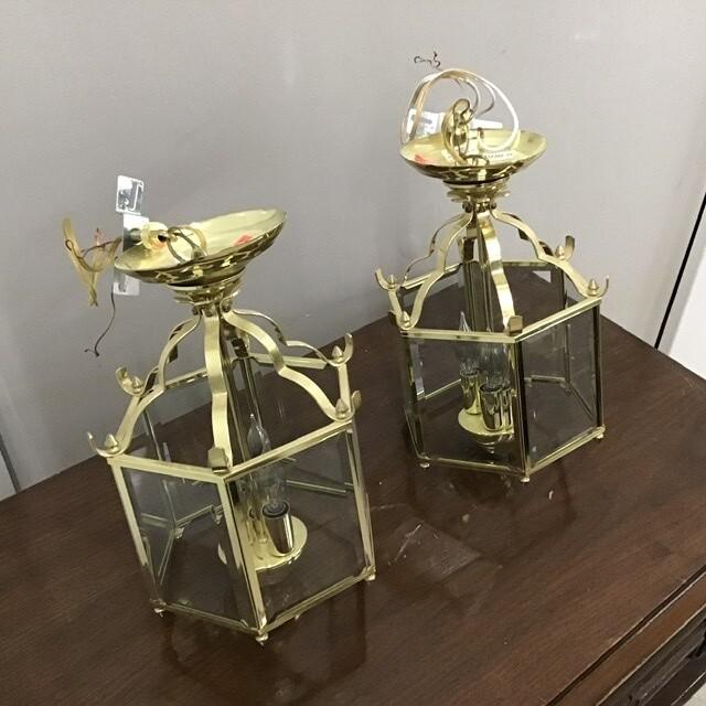 Matching Pair Of Brass Lanterns