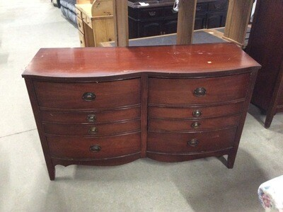 6 Drawer Cherry Finish Bureau