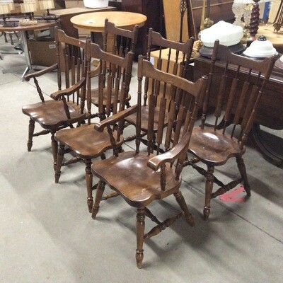 Set Of 6 Colonial Farmhouse Chairs