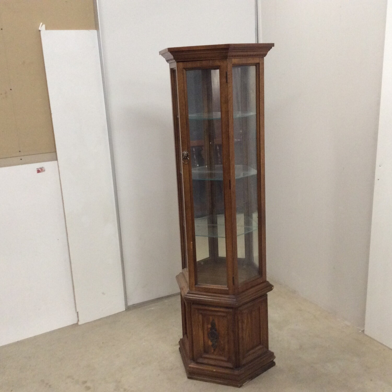 Mirrored Back Curio Cabinet