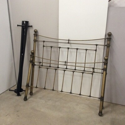 Queen Size Brass Finish Metal Bedframe