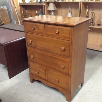 6 Drawer Dresser w/ Drop Down Desk