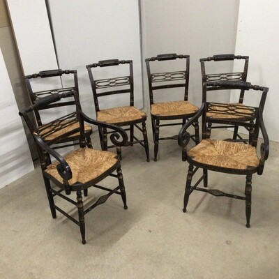 Set Of 6 Hand-Painted Hitchcock Chairs