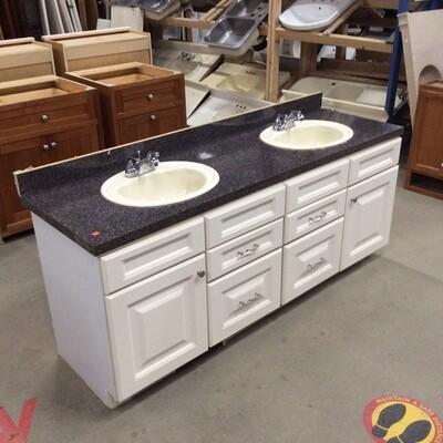 Double-Sink Vanity Cabinet