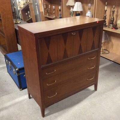 Mid-Century Modern 4 Drawer Chest w/Drop-Down Desk
