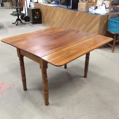 Solid Wood Drop-Leaf Kitchen Table