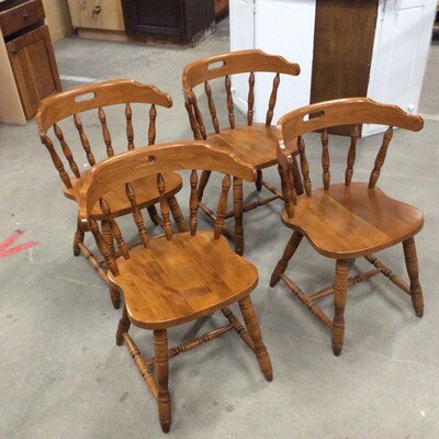 Set of 4 Maple Kitchen Chairs