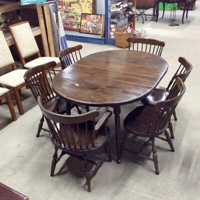 Dark Finish Pine Dining Room/Kitchen Set