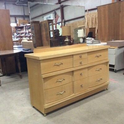 9 Drawer Solid Wood Bureau w/ Mirror