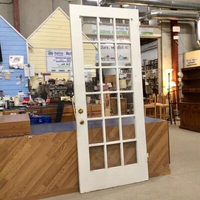 18 Glass-Panel Solid Wood Door