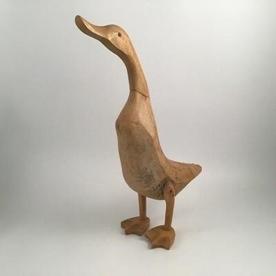 Wooden Duck Sculpture