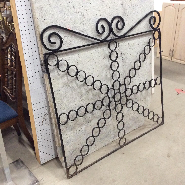 Decorative Wrought Iron Gate Door