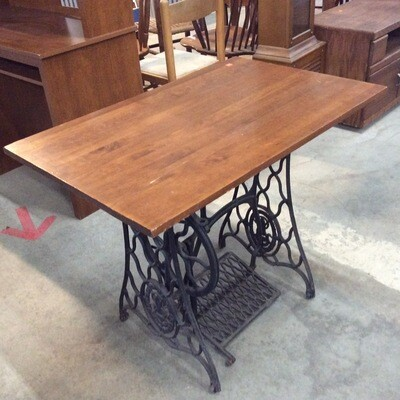 Wrought Iron Sewing Treadle Base Table