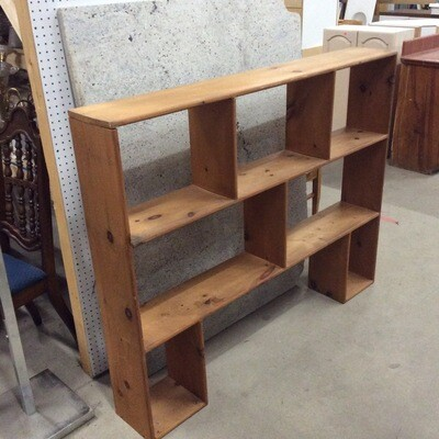 Custom-Built All-Wood Shelving Unit
