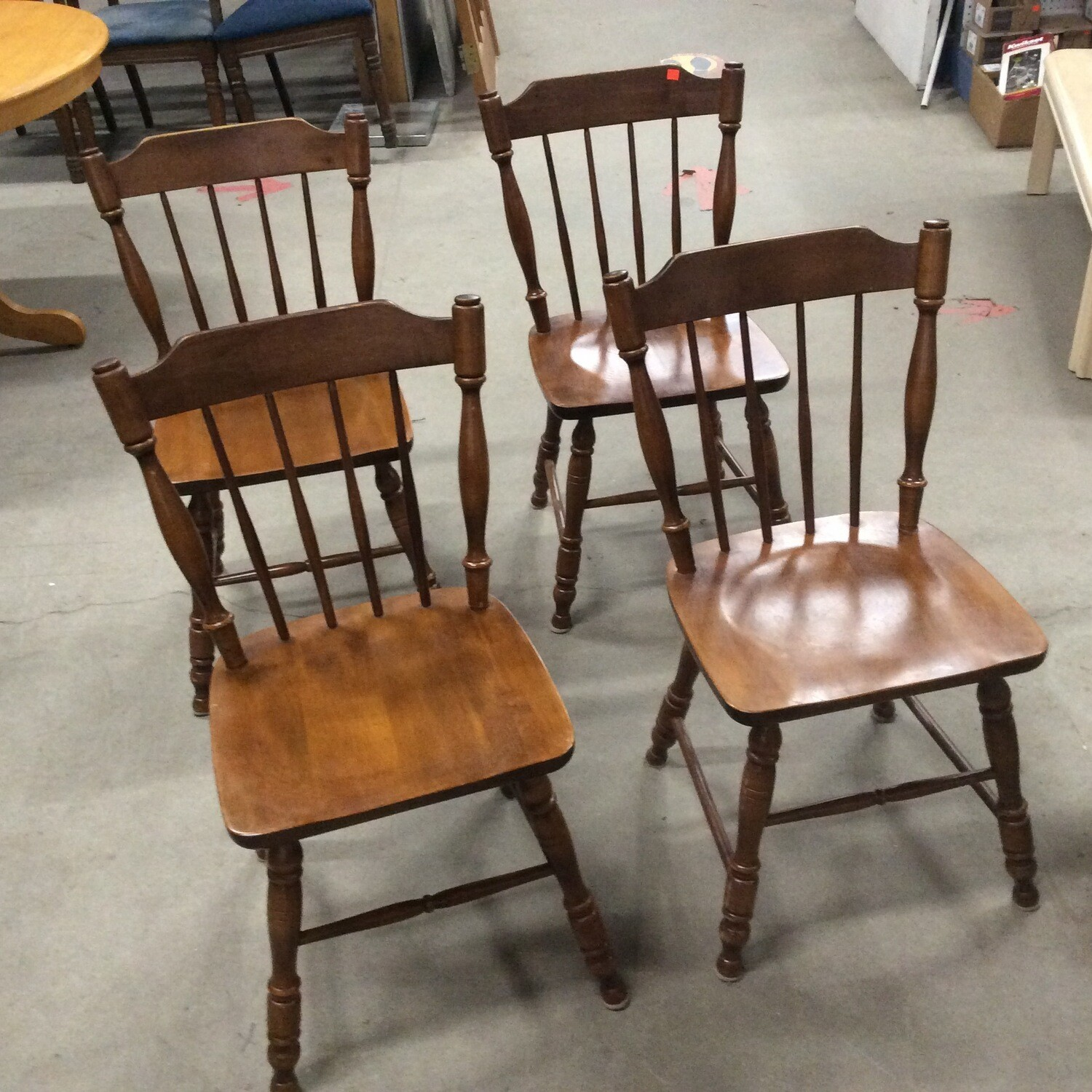 Set of 4 Solid Wood Kitchen/Dining Room Chairs